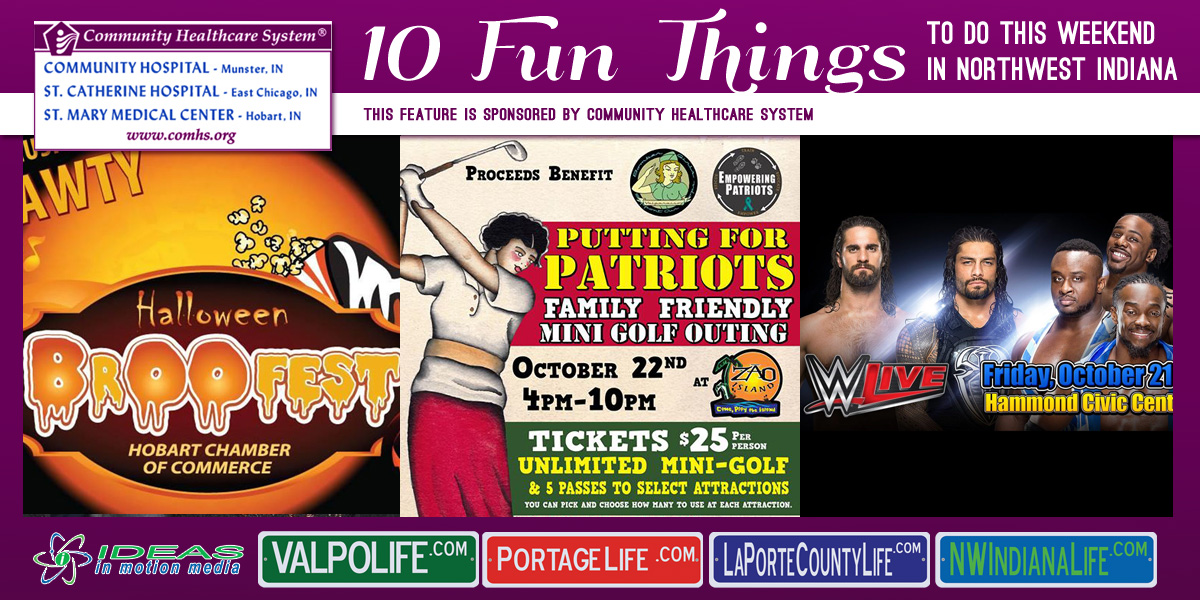 10 Fun Things to Do this Weekend in Northwest Indiana: October 21-23, 2016