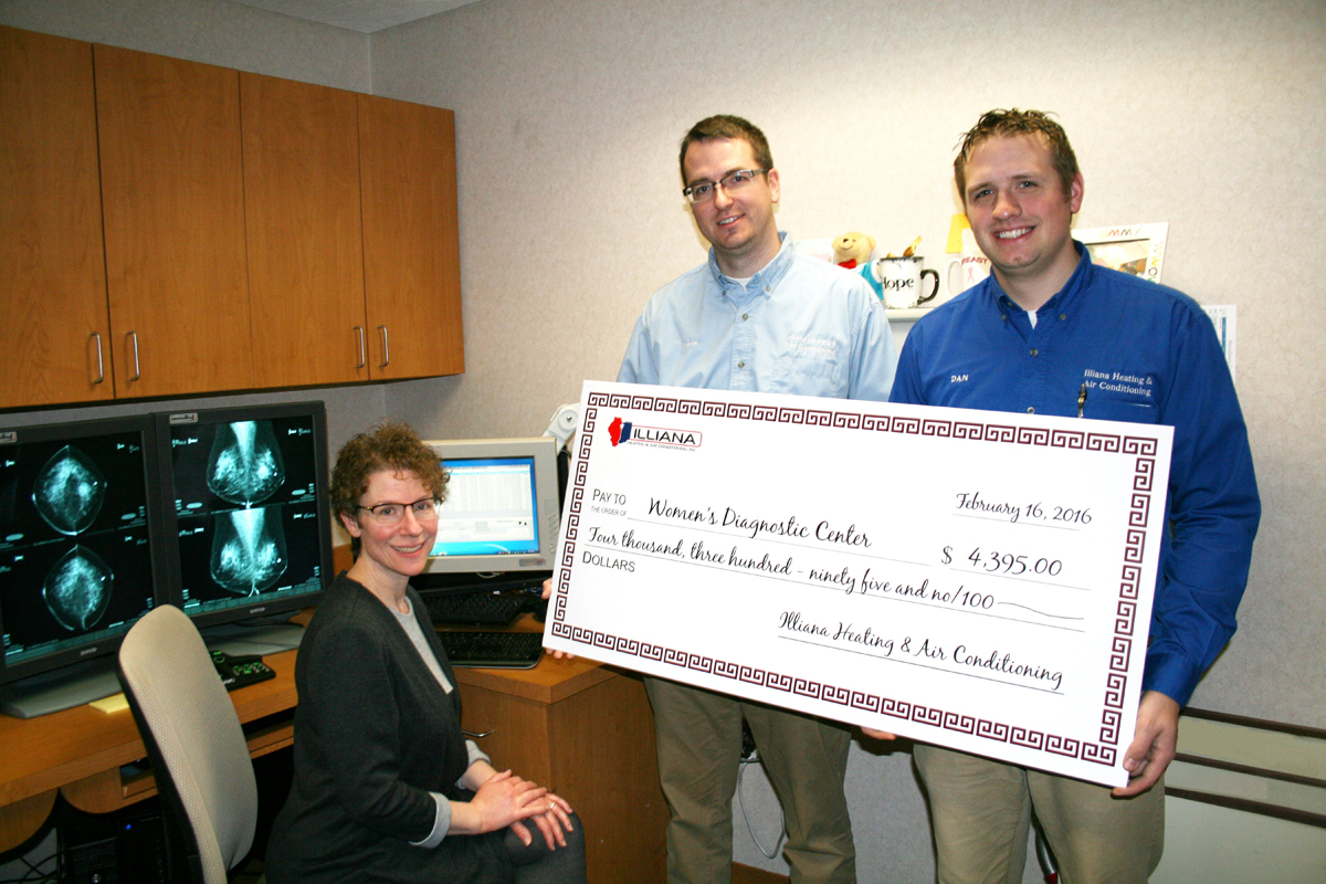 Illiana Heating & Air Conditioning Joins Forces with the Women's Diagnostic Center to Help Fight Breast Cancer