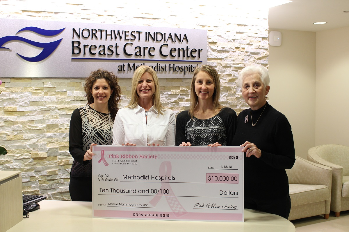 Methodist Hospitals Breast Care Center Receives $10,000 Donation from the Pink Ribbon Society