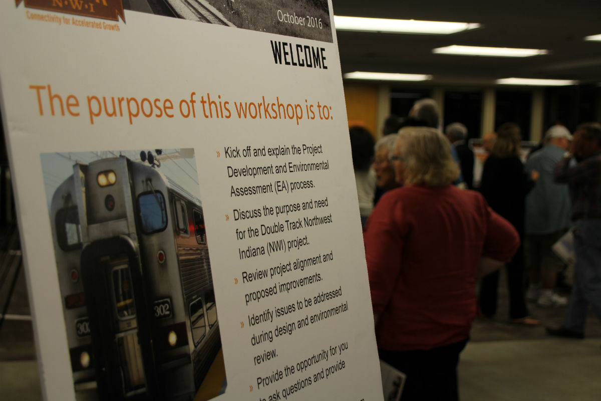 South Shore Line Meets with the Public to Discuss Their Double Track Project