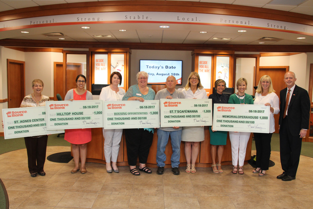 Housing Opportunities, Memorial Opera House Among Winners of 1st Source Bank '5 for 5 Charity Challenge'