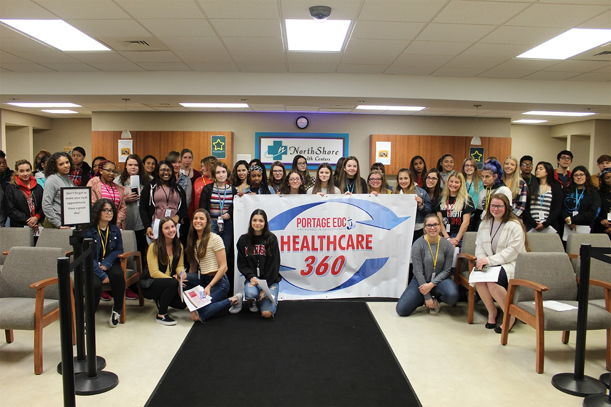 Students Explore Careers at NorthShore Health Center in Part Two of Healthcare 360