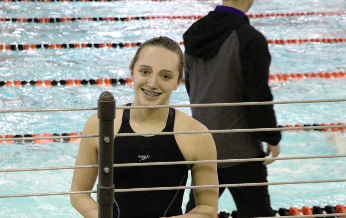 LaPorte High School Swimmer Abigail Robert Breaks Mom's Thirty Year-Old School Record