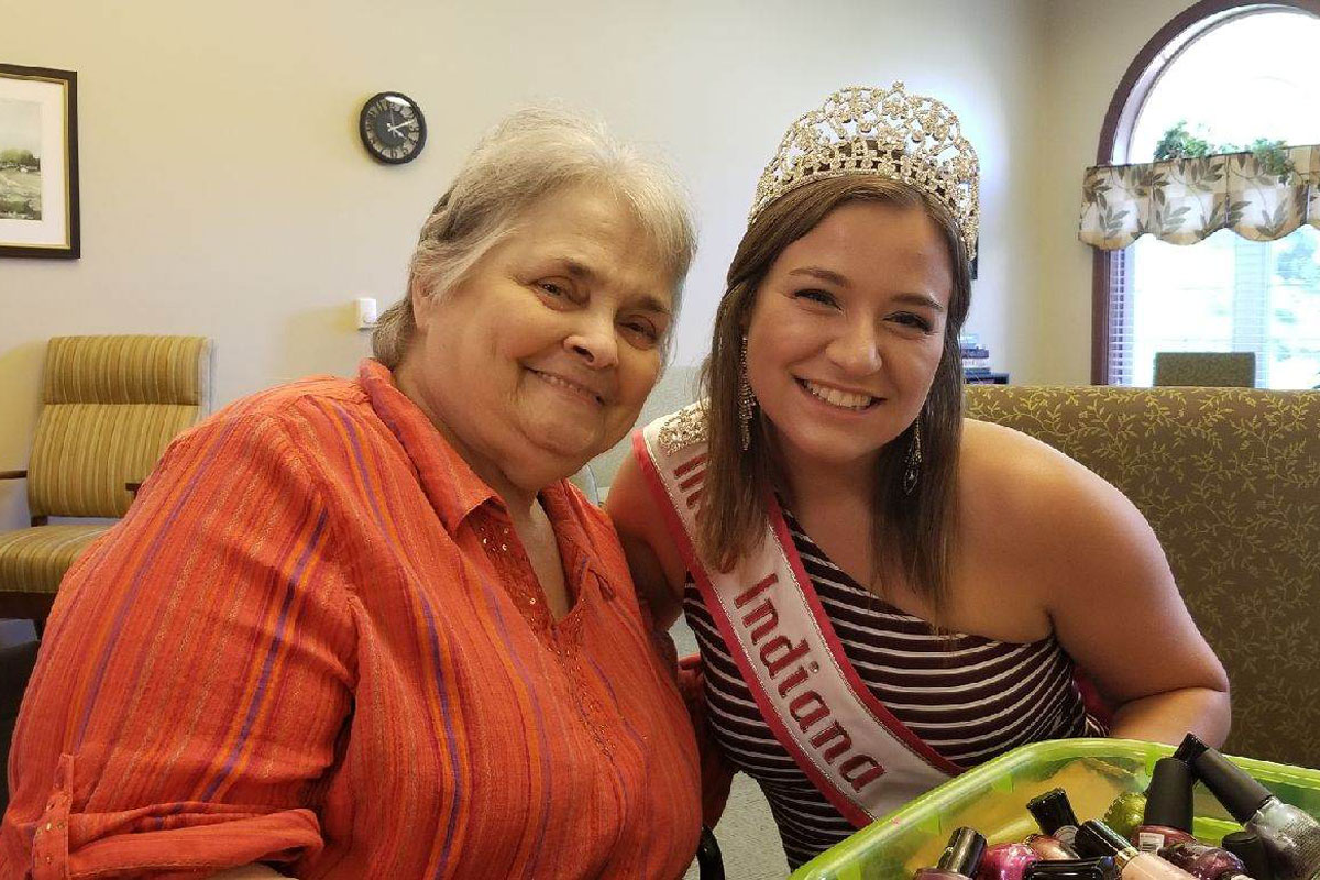 Addison Pointe Health & Rehabilitation Center Enjoys Visit from National American Miss Indiana