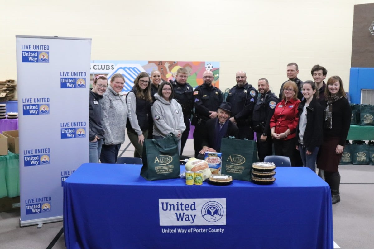 Attorney Kenneth J. Allen Donates 1,000 Thanksgiving Dinners in Annual Tradition with the Help of the United Way of Porter County and Boys & Girls Club of Greater Northwest Indiana for Distribution