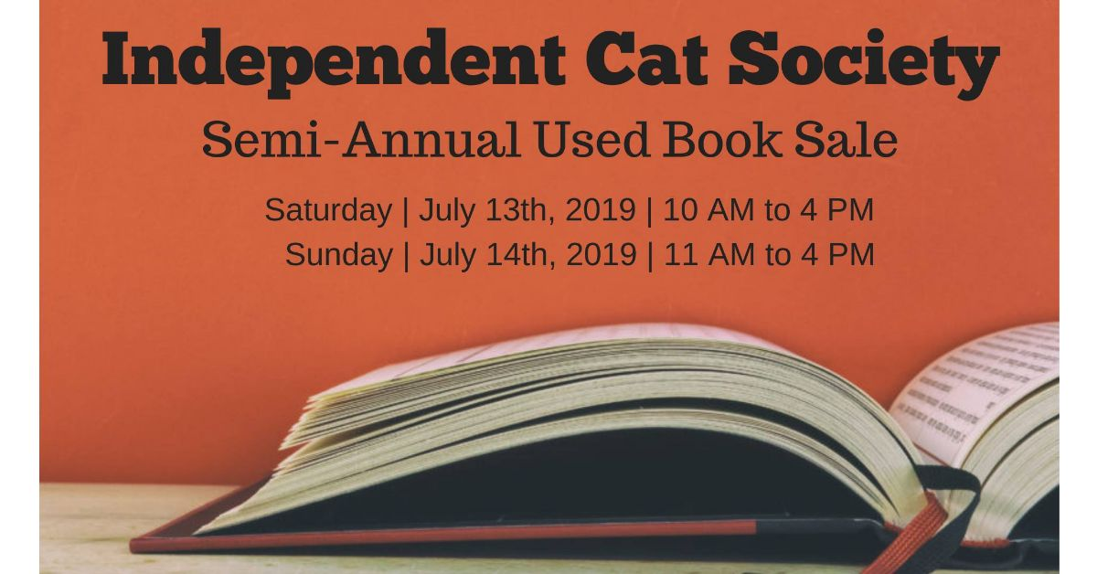 Independent Cat Society's Semi-Annual Used Book Sale
