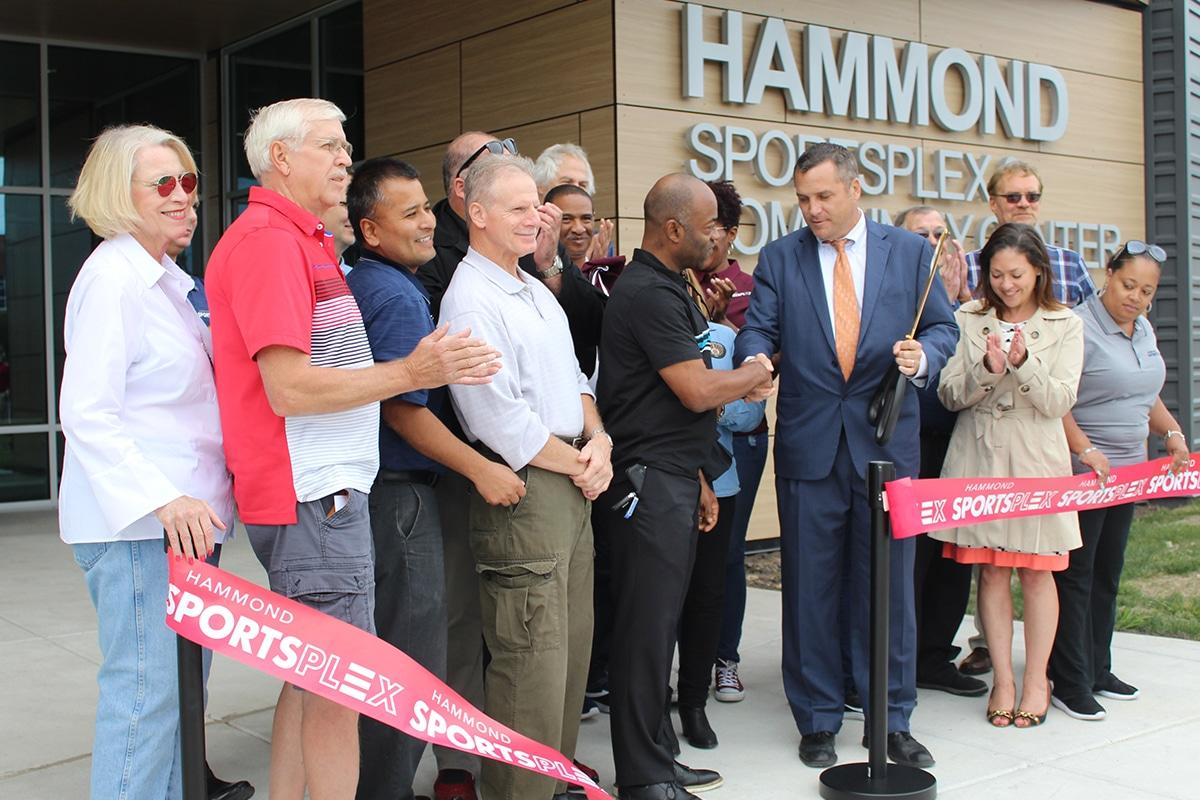 City of Hammond Cuts Ribbon on Hammond Sportsplex and Community Center