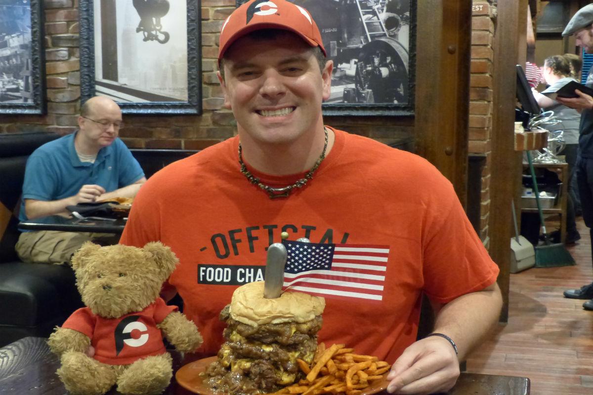 Randy Santel Takes On the Industrial Revolution Burger Challenge
