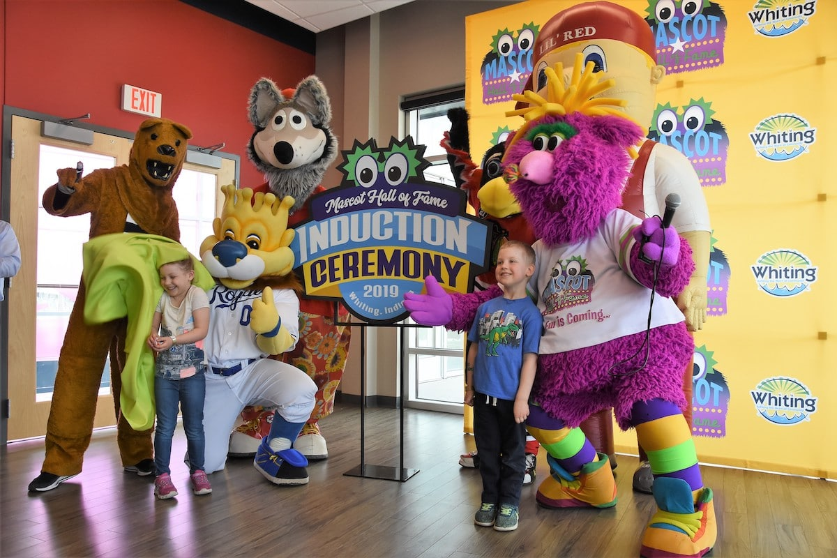 Whiting Celebrates Reggy's New Home at Mascot Hall of Fame Grand Opening