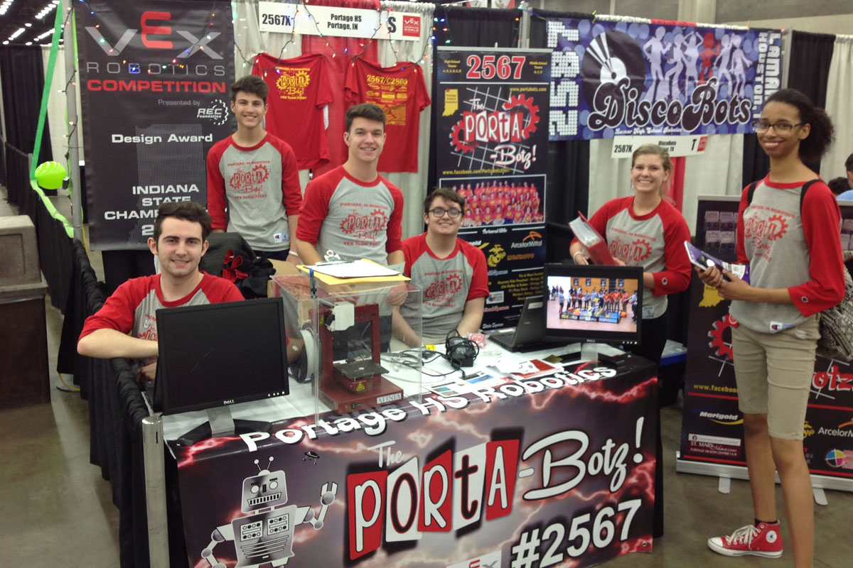 "Portage Robotics, the ""Porta-Botz!"", win State and National Awards, Compete in World Championships"