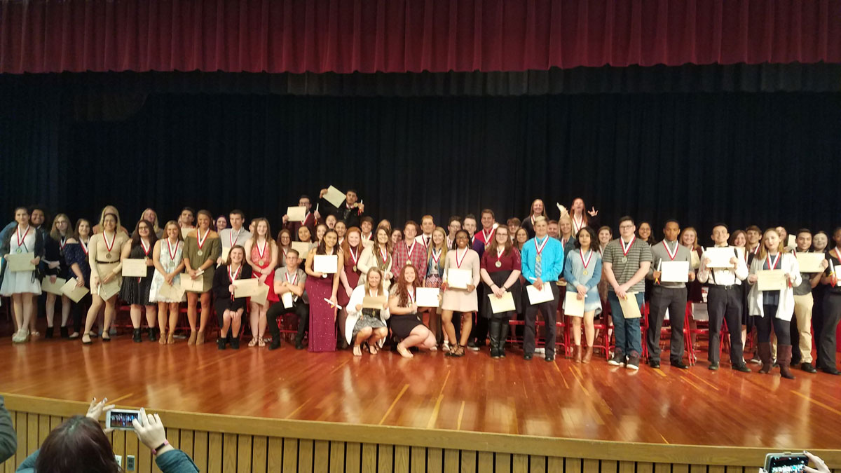 Portage High School Holds 29th Annual World Language Honor Society Induction Ceremony