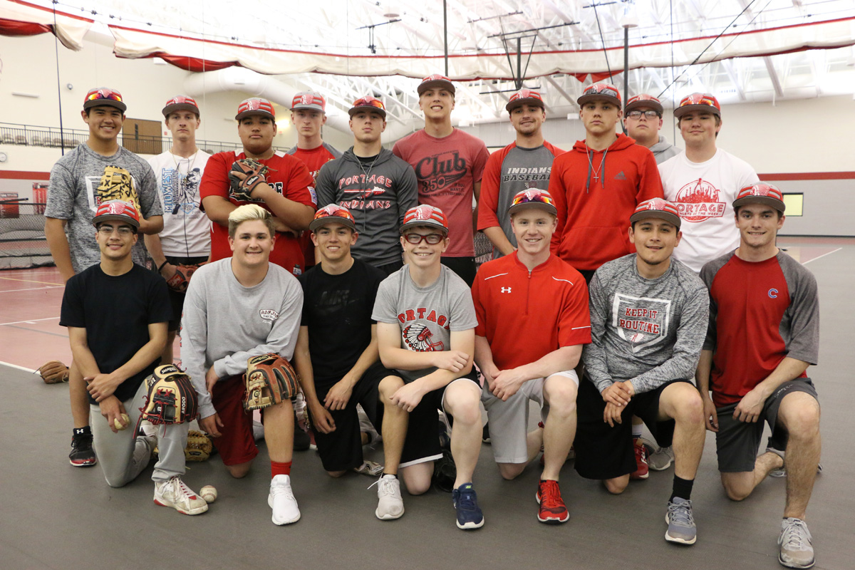 """Portage Indians Baseball Focusing on Being """"A Tough Out"""" as Young Team Develops"""