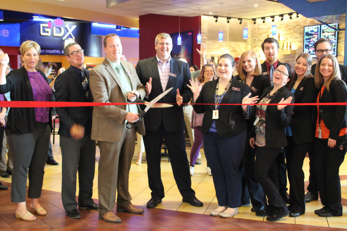 Portage 16 IMAX Hosts Portage Chamber of Commerce for Ribbon Cutting on Screen Taps Bar, GDX Theater