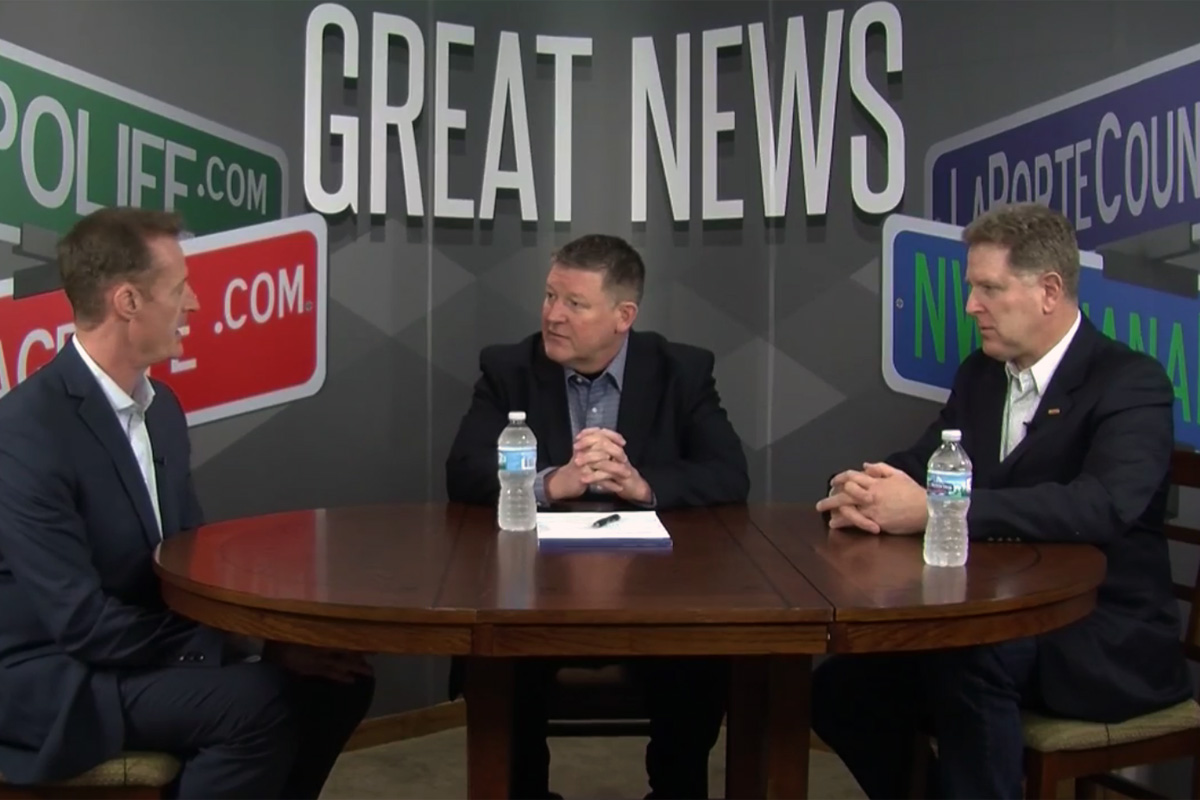 Michael Noland and Bill Hanna Meet at the Great News Studio to Discuss the Proposed South Shore Double Track Project